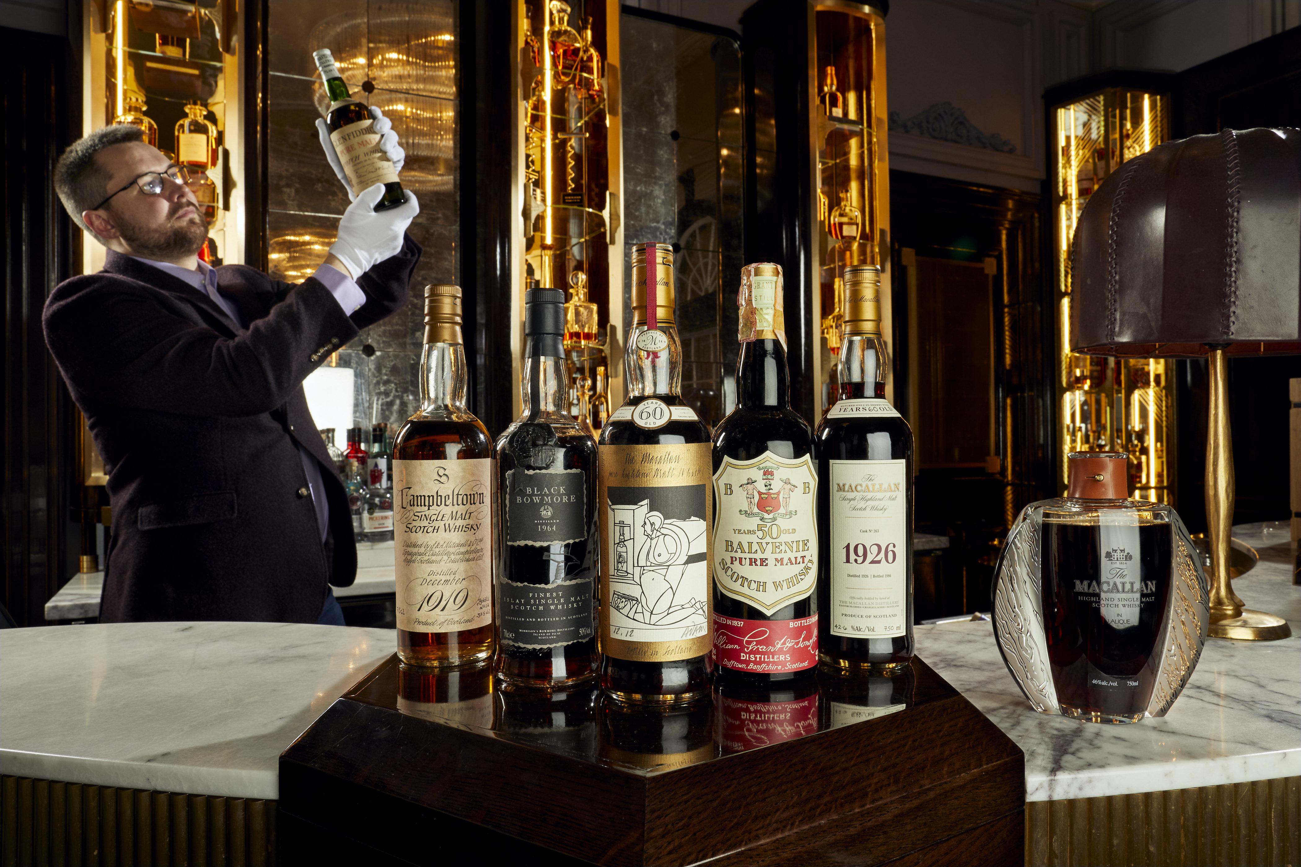 Коллекция виски стоимостью 8 миллионов фунтов стерлингов уйдет с молотка