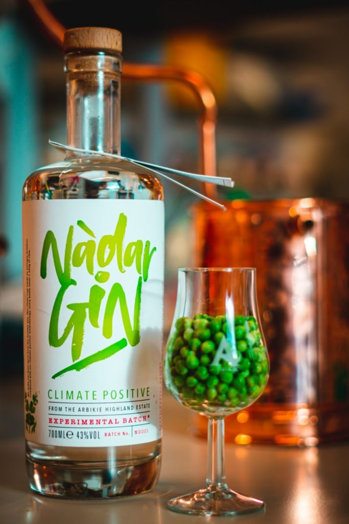 """World's first """"climate positive"""" gin is made from peas"""
