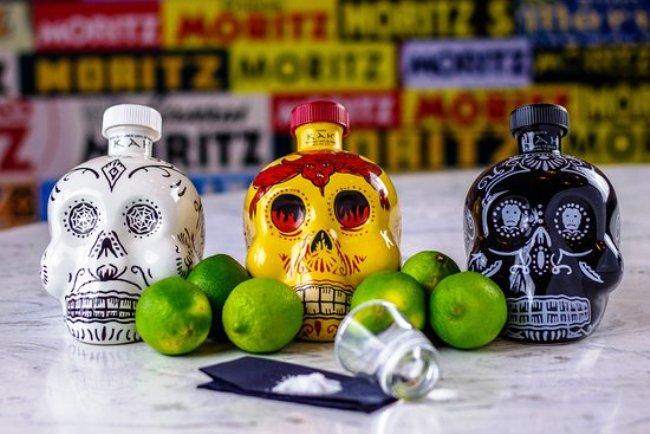 Kah Tequila's skull-shaped bottle