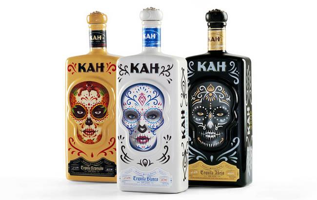 Kah Tequila bottle for US market