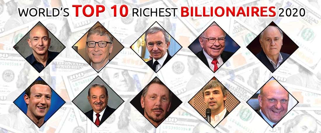 Top 10 billionaires